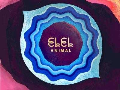 """ELEL: """"Animal"""" single music indie pop cover album art elel eye animal"""