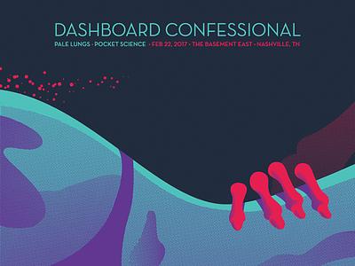 Dashboard Confessional Night 2 bones nashville concert screen print emo music sex woman skeleton gig poster dashboard confessional
