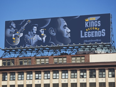 ESPN's Courting The King: Memphis Grizzlies king billboard nba memphis bb king elvis grizzlies espn basketball lebron james