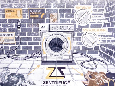 Washing Machine Infographic washer infographic illustration