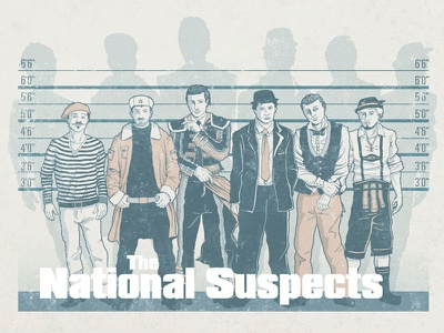 The National Suspects suspects nationality crime french russian spanish english italian german