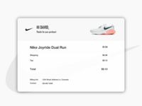 Nike Email Receipt | ui 12