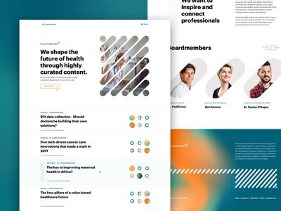 Future Health Index ux ui page landingpage interface branding gradient homepage flow design