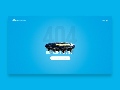 KLM Health Services funny 404 globe blue design interface ui