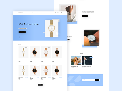 Watchroom – online store ecommerce shop online shop online store website webpage webdesign concept clean sale blog shop products simple clean interface layout homepage watches fashion ecommerce