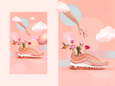 AIRMAX 98 design art branding poster post design collageart nike photoshop visual design artdirection ui design ui