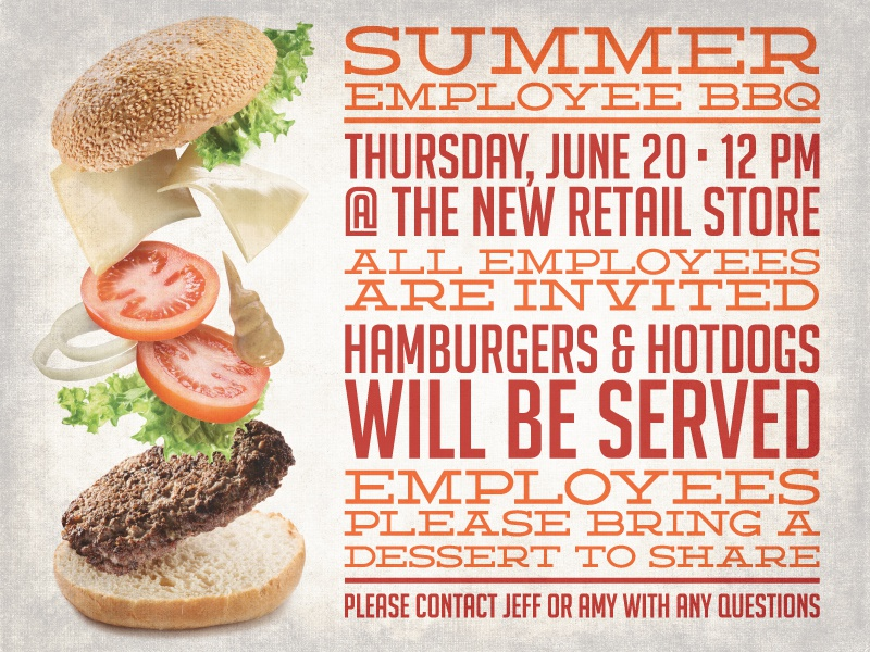 Employee Bbq Flyer By Jordon Mazziotti  Dribbble