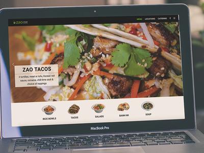 Zao Asian Cafe Website