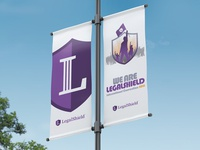 Lamp Post Banners at LegalShield's HQ