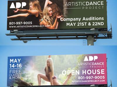 Artistic Dance Project Digital Billboards
