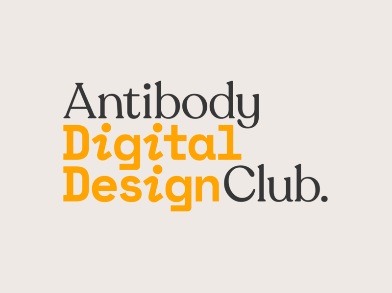 Antibody Digital Design Club club logo digital design branding