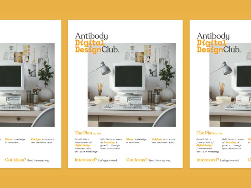 Antibody Digital Design Club Poster layout branding logo club digital design poster