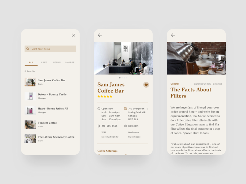 Half Full coffee app product design computer branding ux ui