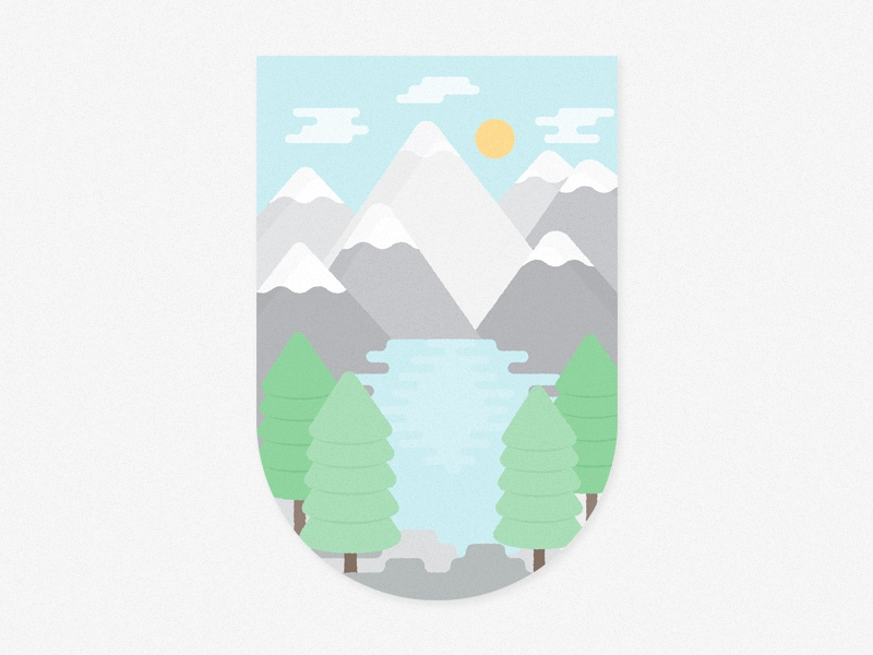 Moraine Lake mountain nature illustration vector national park alberta moraine lake