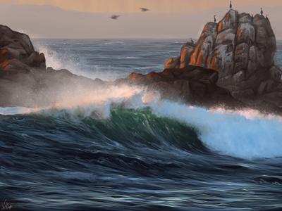 Ocean dribbble