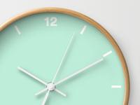 Pastel Mint Clock