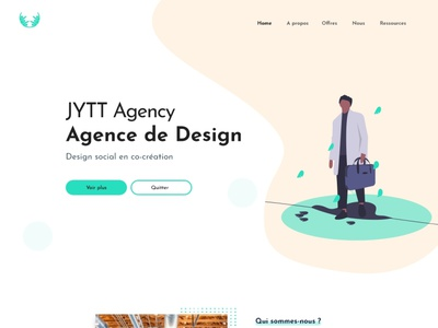 Landing Page - Design Social Agency illustration ux ui design
