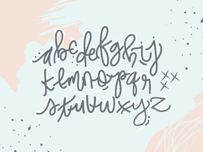 Relearning my ABCs moderm calligraphy vector illustrator alphabets letters abc calligraphy handwriting