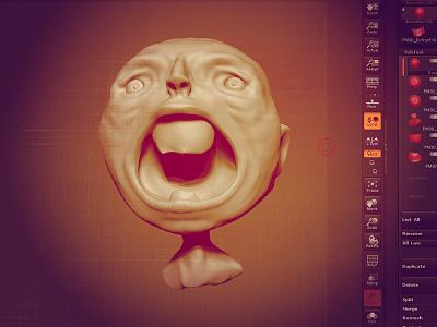 FIB ONE zbrush 3d sculpture character design