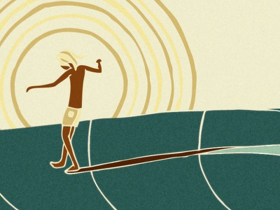 One Footer illustration surf