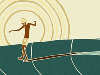 One Footer illustration surf