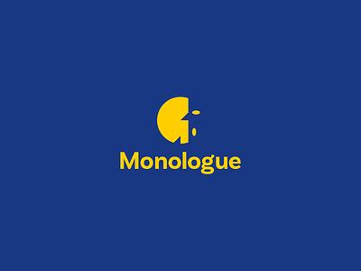 Monologue logo design flat minimal branding sign logo