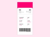 Boarding pass design