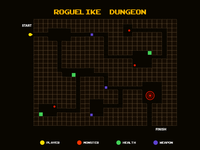 Roguelike Dungeon Game Map