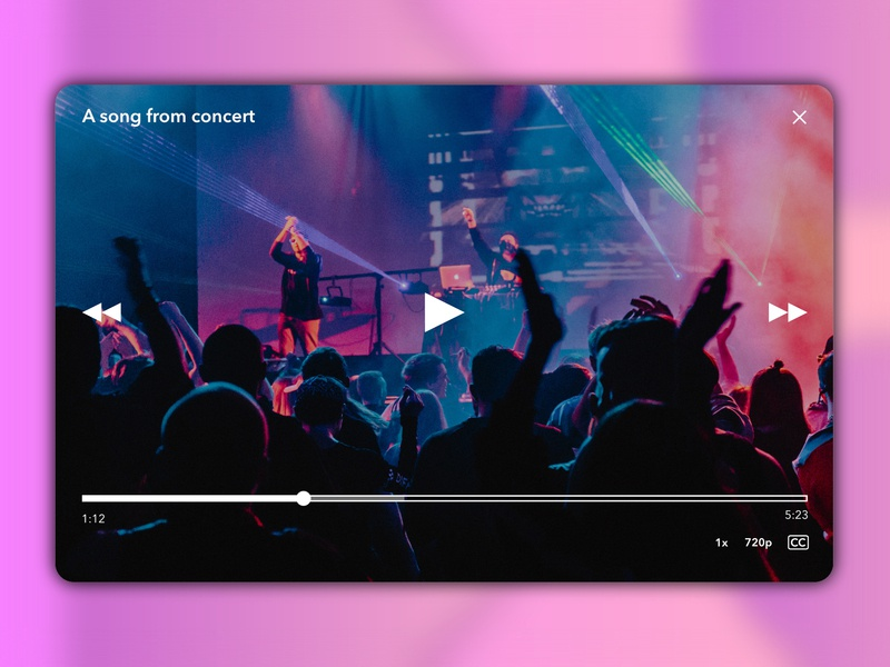 Video Player Design dribbbler dribbblers video app videoplayer video webdesign uidesign appdesign affinitydesigner madeinaffinity dailyuichallenge dailyui057 dailyui