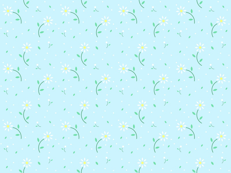 Simple Daisy Pattern daisy flower simple pattern vector illustration design