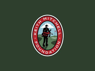 Keith Mitchell Foundation glove green illustration brand identity brand logo foundation pga golfcourse clubs golfbag flag golfball golfer