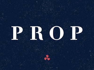 Prop Athletics clothing mens activeware serif logotype athletics prop