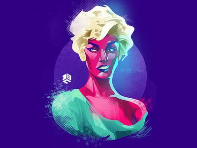 The next door girl vector artwork vector art vector logo photoshop illustraor digital painting texture artist artwork digitalartist illustration design