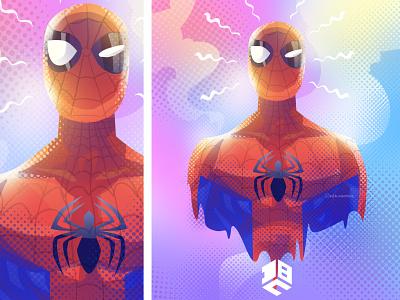 Spiderman illustration vector artwork digital 2d logo digitalart vector artworks vector digitalartist vector art design