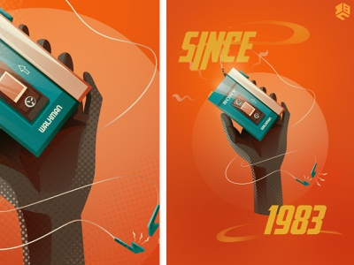 Sony retro walkman product digital painting digital art illustrations illustrator logo digitalart vector artworks digital 2d vector illustration digitalartist vector artwork vector art design