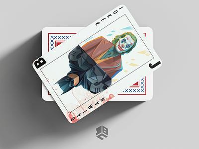 Batman\ Joker Playing card typography digitalart vector artworks digital 2d vector illustration digitalartist vector artwork vector art design
