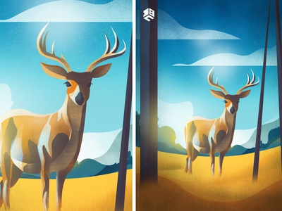 The Elk artwork drawing digitalartist vector artworks vector digital 2d illustration vector artwork vector art design
