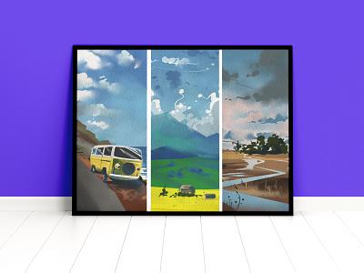 Landscape Illustrations digitalart design illustrator procreate photoshop landscape landscape illustration illustration