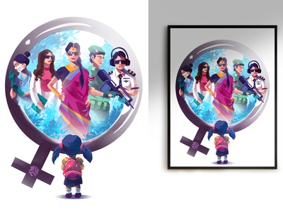 United Nations gender quality artwork digitalart vector artwork characters character photoshop art procreate photoshop digital 2d illustration digitalartist vector art design