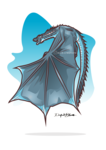 Viserion from Game of thrones