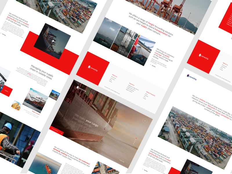 Container Shipping Website webinterface ui landing page desiginspiration inteface shipping website webdesign homepage web uiux design