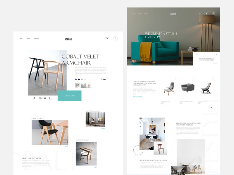 Furniture Ecommerce Store website uidesign online store homepage web minimal landing page ui ux ecommerce webdesign uiux design