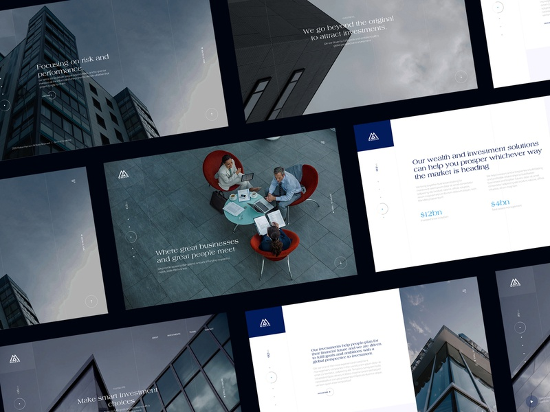 Investment Company Website homepage uiux design minimal ux landing page ui business desiginspiration investment web webdesign