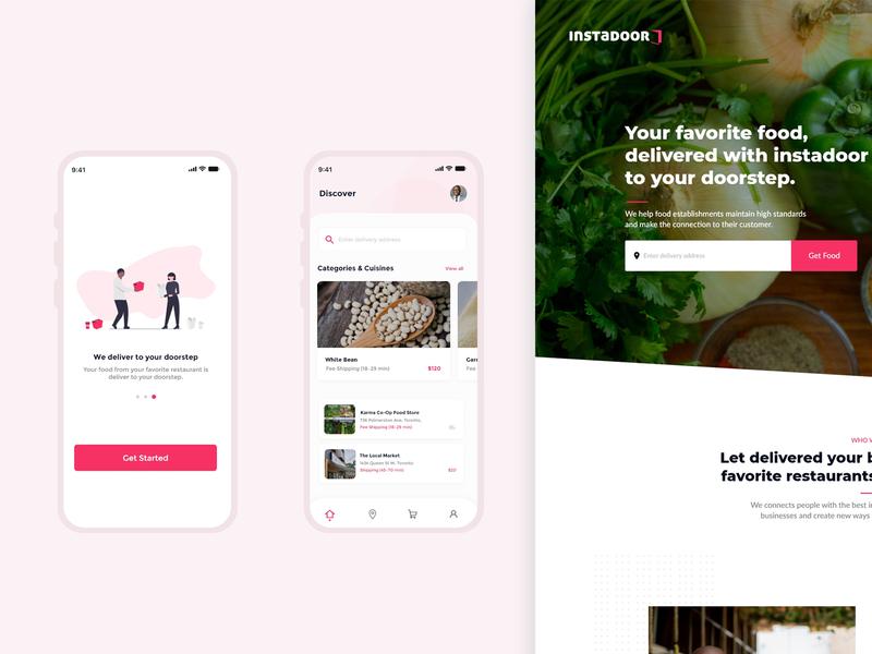 Food Items Delivery Service ui mobile design mobile app mobile webinterface ux food uiux design store web desiginspiration webdesign