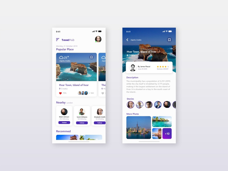 Travel Mobile Application uiux design ux desiginspiration design inteface mobile app design mobile app web ui