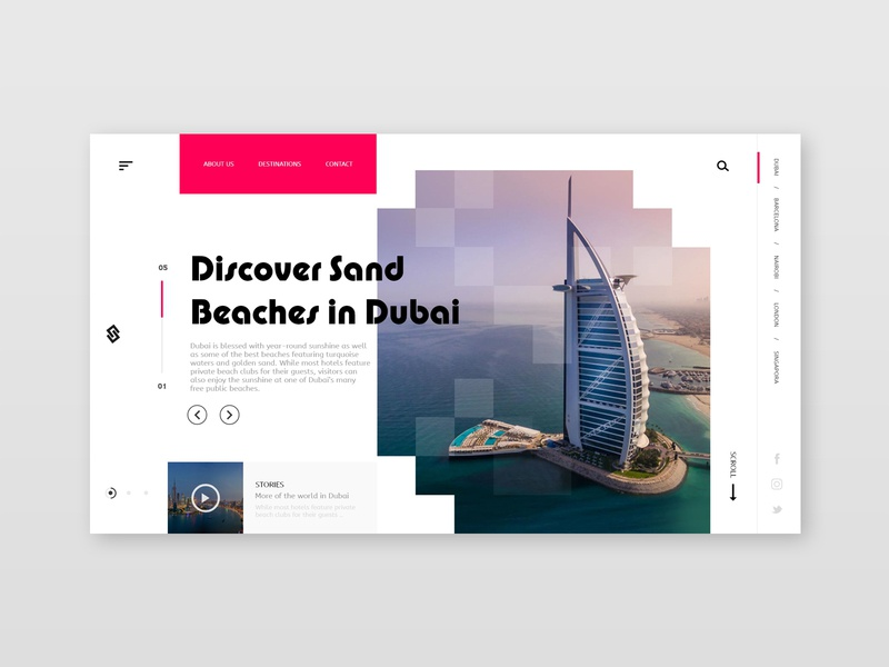 Tourist destination page tourism homepage landing page webinterface webdesign inteface desiginspiration uiux design web