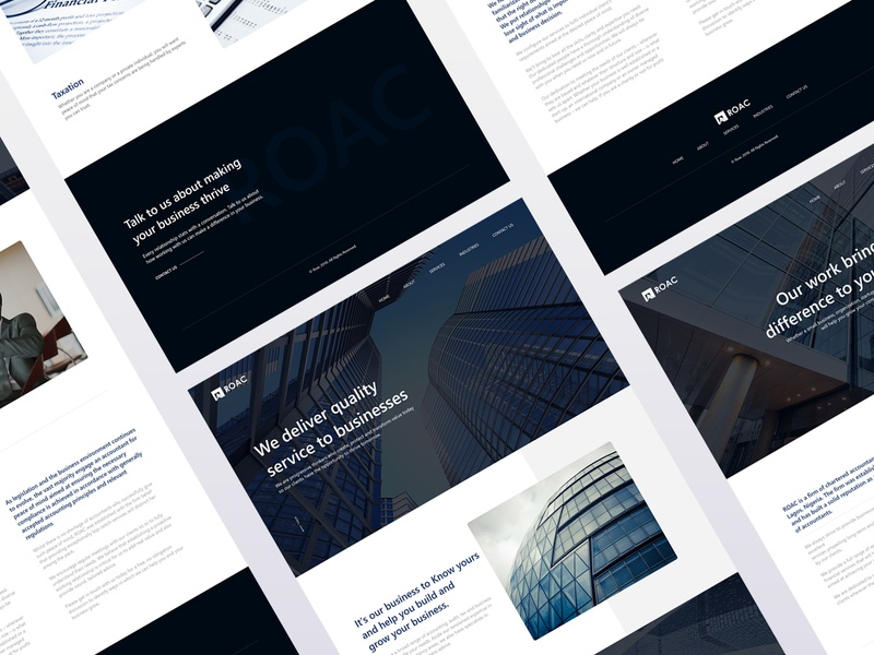 Business firm page design busines webinterface landing page webdesign homepage inteface ux uiux design ui