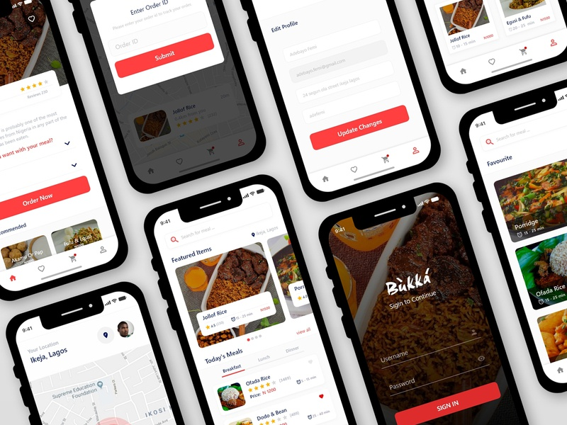 Food vendor mobile app food app app branding interface design mobile design ui desiginspiration