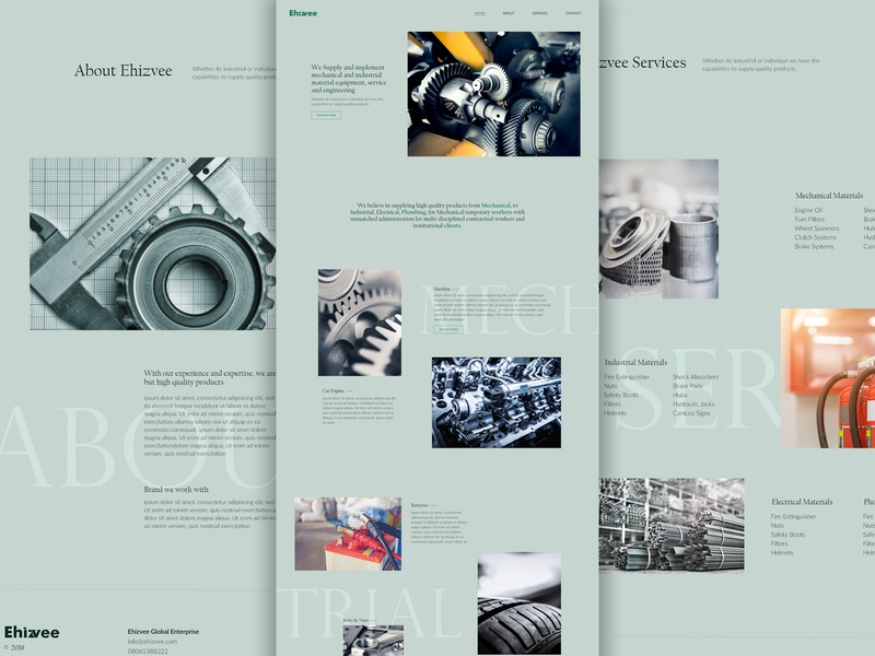 Mechanical Supplies Landing Page landing page webinterface minimal design web webdesign inteface homepage desiginspiration uiux design