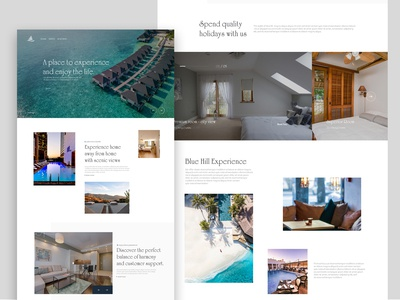 Hotel - landing page concept